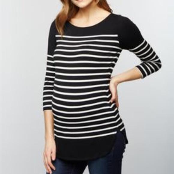 ff150fe9b91b4 A Pea in the Pod Tops | Striped Maternity Shirt | Poshmark
